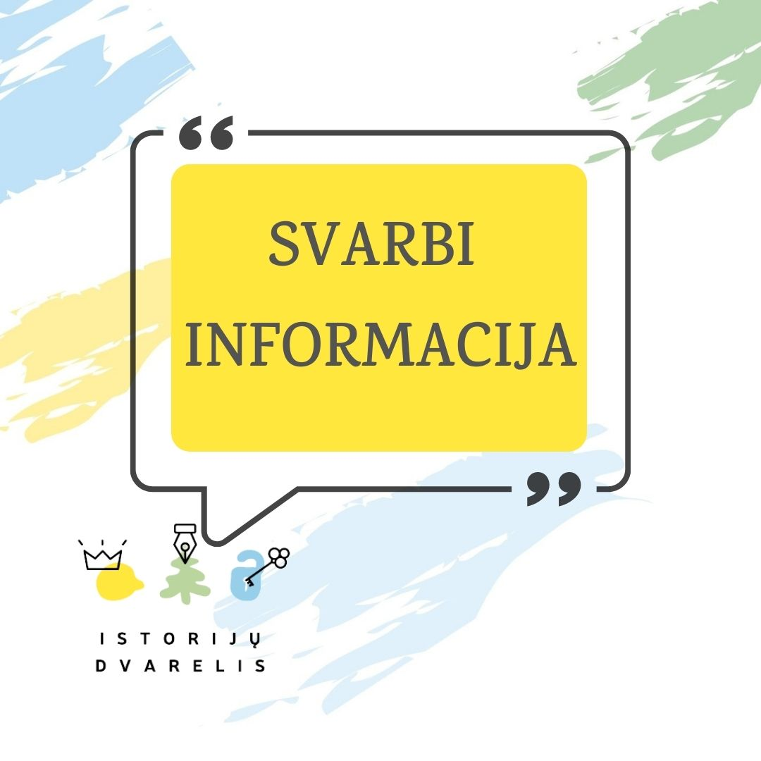 You are currently viewing SVARBI INFORMACIJA